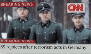 The war escalates: BREAKING NEWS  BREAKING NEWS  SS rejoices after terrorism acts in Germany The war escalates