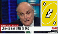 Chinese: BREAKING NEWS  Chinese man killed by dog  CNN  6:19 PM PT  CUOMO PRIME TIME