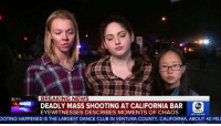 "Club, God, and Memes: BREAKING NEWS  DEADLY MASS SHOOTING AT CALIFORNIA BAR  EYEWITNESSES DESCRIBES MOMENTS OF CHAOS  NEWS  GET THE APP  OOTING HAPPENED IS THE LARGEST DANCE CLUB IN VENTURA COUNTY, CALIFORNIA, ABOUT 40 MIL God bless 'toxic masculinity' like this: ""There were multiple men that got on their knees and pretty much blocked all of us...ready to take a bullet for any single one of us."""