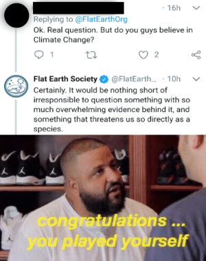 Breaking News: Flat Earth Society is finally using one of their brain cells!: Breaking News: Flat Earth Society is finally using one of their brain cells!