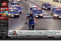 "Dallas Cowboys, Philadelphia Eagles, and March Madness: BREAKING  NEWS  @GhettoGronk  BROCK OSWEILER  OSWEILER STILL  SUCKS  Cowboys cut  washed up Dez  The curse of  Zaza  eGhettoGronk  Lavar: Bennett  don't compare  to my boy Gelo  Police in hot pursuit of Eagles' DE Michael Bennett  Not again  Allegedly shoved Sister Jean during March Madness tournament  NFL  Jerry Jones: ""Bennett is a role model and would fit great in our locker room BREAKING: Michael Bennett update... https://t.co/FLMFIwLzUG"