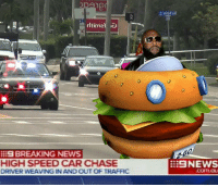 get this maniac off the road ASAP😨.....🍩c: BREAKING NEWS  HIGH SPEED CAR CHASE  DRIVER WEAVING IN AND OUT OF TRAFFIC  NEWS get this maniac off the road ASAP😨.....🍩c