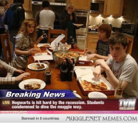 "<p>Best Party Ever. <a href=""http://ift.tt/13OL1IF"">http://ift.tt/13OL1IF</a></p>: Breaking News  LIVE Hogwarts is hit hard by the recession. Students  condemned to dine the muggle way.  EXCLUSIVE  Banned in 0 countries  MUGGLENET MEMES.COM <p>Best Party Ever. <a href=""http://ift.tt/13OL1IF"">http://ift.tt/13OL1IF</a></p>"