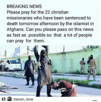 22 christian missionaries sentenced to death