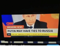 News, Shit, and Breaking News: BREAKING NEWS  PUTIN MAY HAVE TIES TO RUSSIA Holy. Shit. @fuckadvertisements
