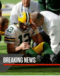 """Memes, News, and SportsCenter: BREAKING NEWS Repost @sportscenter: """"Breaking: AaronRodgers suffered a broken collarbone and could miss the rest of the season."""" 😳🏈🙏 WSHH"""