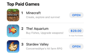 Breaking news! Stardew valley has fallen to third on the AppStore now under a game about fish: Breaking news! Stardew valley has fallen to third on the AppStore now under a game about fish