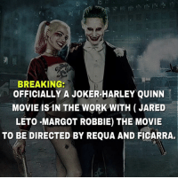 Batman, Joker, and Killer Croc: BREAKING:  OFFICIALLY A JOKER-HARLEY QUINN  MOVIE IS IN THE WORK WITH (JARED  LETO MARGOT ROBBIE) THE MOVIE  TO BE DIRECTED BY REQUA AND FICARRA. All I need for my life to be perfect at this point is a killer croc solo film. dc dccomics dceu dcu dcrebirth dcnation dcextendeduniverse batman superman manofsteel thedarkknight wonderwoman justiceleague cyborg aquaman martianmanhunter greenlantern theflash greenarrow suicidesquad thejoker harleyquinn comics injusticegodsamongus