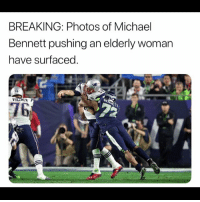 SEAHAWKS XINF Michael Bennett s Shoulder Pads Are About as Small as ... e2c52fcee