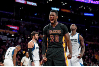 Breakout season in store for Julius Randle next season?  With Lopez stretching the floor and Lonzo on the ball, will Randle be the monster in the paint he has shown the potential to be?  Predict his stats for the 2017-18 campaign.  #BhartiyaMamba #WWLG4L: Breakout season in store for Julius Randle next season?  With Lopez stretching the floor and Lonzo on the ball, will Randle be the monster in the paint he has shown the potential to be?  Predict his stats for the 2017-18 campaign.  #BhartiyaMamba #WWLG4L