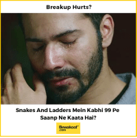 That definetly hurts more :P  Shop Now - http://bit.ly/bewakoof-collection: Breakup Hurts?  Snakes And Ladders Mein Kabhi 99 Pe  Saanp Ne Kaata Hai?  Bewakoof  .com That definetly hurts more :P  Shop Now - http://bit.ly/bewakoof-collection
