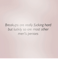 @scouse_ma has a point: Breakups are really fucking hard  but luckily so are most other  men's penises @scouse_ma has a point