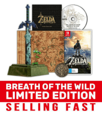 The Legend of Zelda: Breath of the Wild - Limited Edition is selling fast! Stock is limited so secure yours today: http://bit.ly/EBNZ_Zelda_Breath_Of_The_Wild: BREATH eWILD  THE LEGEND  ZELDA  BREATH OF THE WILD  00  BREATHE WI  BREATH OF THE WILD  LIMITED EDITION  SELLING FAST The Legend of Zelda: Breath of the Wild - Limited Edition is selling fast! Stock is limited so secure yours today: http://bit.ly/EBNZ_Zelda_Breath_Of_The_Wild