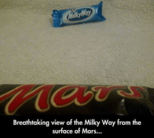 Breathtaking view of the Milky Way from Mars.: Breathtaking view of the Milky Way from Mars.