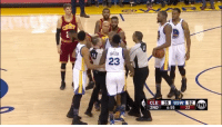 Things getting a bit chippy at Oracle 👀: BREEN  23  CLE IE5d GSW  52  2ND  6:55  22 Things getting a bit chippy at Oracle 👀