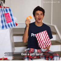 9gag, Christmas, and Memes: brentrivera |IG  Pre  0oo a gift card! Christmas then VS now. - 🎥 @brentrivera - christmas xmas 9gag