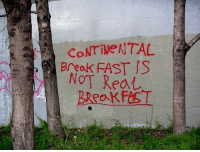 I like how Banksy is taking a more meaningful approach with his artworks: Breok FAST IS  NOT Rea I like how Banksy is taking a more meaningful approach with his artworks