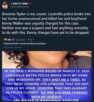 Breonna Taylor's cousin speaks. by HRHNeil MORE MEMES: Breonna Taylor's cousin speaks. by HRHNeil MORE MEMES