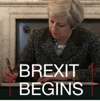 Countdown, England, and Memes: BREXIT  BEGINS 29 MARCH: Prime Minister Theresa May has triggered Article 50 of the Lisbon Treaty, starting a two year countdown to the UK's exit. Photo courtesy: Getty Read more: bbc.in-article50 Brexit Article50 TheresaMay UK England BritishPM EU Europe trade immigration @theresa_may BBCShorts BBCNews @BBCNews