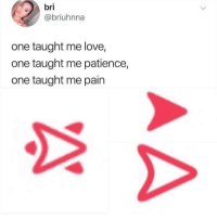 Love, Memes, and Shit: bri  @briuhnna  one taught me love,  one taught me patience,  one taught me pain Holy shit. I felt this in my soul. 😭😭