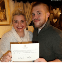 Memes, White House, and House: Brianna and Timothy Dargert Newlyweds recently received a surprise congratulatory letter from President DonaldTrump and First Lady MelaniaTrump after mailing an invitation to the White House for their May 2017 wedding.