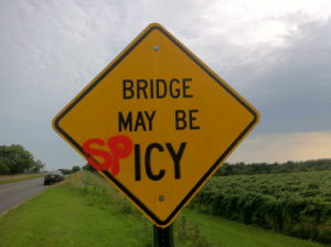 bridge: BRIDGE  MAY BE  ICY