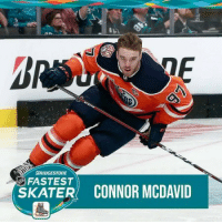 For the third year in a row, Connor McDavid is your Bridgestone Tires NHL Fastest Skater! NHLAllStar: BRIDGESTORE  FASTEST  SKATER CONNOR MCDAVID For the third year in a row, Connor McDavid is your Bridgestone Tires NHL Fastest Skater! NHLAllStar