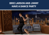 "Party, Target, and Http: BRIE LARSON AND JIMMY  HAVE A DANCE PARTY   <p>Brie Larson <a href=""http://www.nbc.com/the-tonight-show/segments/97126"" target=""_blank"">starts a conga line with Jimmy</a> during her interview!</p>"