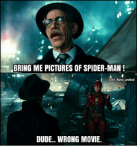 Lmao 👌😂😂 (via: @dc_fans_united) Batman Superman WonderWoman TheFlash GreenLantern Aquaman Cyborg Shazam MartianManHunter GreenArrow BlackCanary Mera JusticeLeague Darkseid SteppenWolf LexLuthor DCEU SuicideSquad Joker HarleyQuinn Deathstroke Deadshot Nightwing RedHood Spiderman Avengers Marvel: BRING ME PICTURES OF SPIDER-MAN!  @dc fans united  DUDE.. WRONG MOVIE Lmao 👌😂😂 (via: @dc_fans_united) Batman Superman WonderWoman TheFlash GreenLantern Aquaman Cyborg Shazam MartianManHunter GreenArrow BlackCanary Mera JusticeLeague Darkseid SteppenWolf LexLuthor DCEU SuicideSquad Joker HarleyQuinn Deathstroke Deadshot Nightwing RedHood Spiderman Avengers Marvel