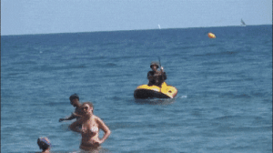 British, Beaches, and Normandy: British troop storming the beaches of Normandy 1944 colorized