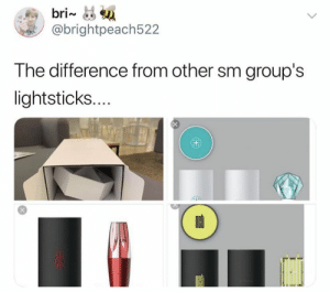 Memes, Exo, and Exo-Memes: bri~  @brightpeach522  The difference from other sm group's  lightsticks....  X EXO memes