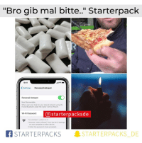"johns: ""Bro gib mal bitte."" Starterpack  9:41  Settings Personal Hotspot  Personal Hotspot  Now Discoverable  Other users can look for your shared network using Wi-  Fi and Bluetooth under the name John's iPhone  starterpacksde  Wi-Fi Password  O  TO CONNECT USING WI-F  1 Choose ""John's iPhone"" from the Wi-Fi settings  on your computer or other device  2 Enter the password when prompted.  BSTARTERPACKS  STARTERPACKS. DE"