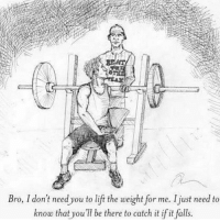 Gym, Link, and Being There: Bro, I don't need you to lift the weight for me. Ijust need to  know that you be there to catch it if it falls. Bro. ❤️💪🏼 . @DOYOUEVEN 👈🏼 10% OFF STOREWIDE (use code DYE10 ✔️ tap the link in our BIO 🎉
