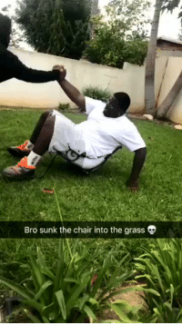 Homie, Chair, and Hood: Bro sunk the chair into the grass My guys laugh is funnier than homie getting the chair stuck in the grass 😭💀 https://t.co/mqgGiCfIJ0