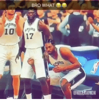 Memes, Wshh, and Spurs: BRO WHAT  SPURS  17  PURS Hold up.. what's going on here?! 😧😂 NBA2K @nbanation WSHH
