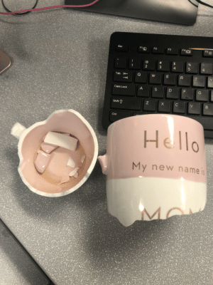 Broke my all time favors coffee cup that I bought for myself after my son was born. I'm heartbroken: Broke my all time favors coffee cup that I bought for myself after my son was born. I'm heartbroken
