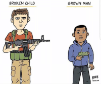 Rest in Peace brother TamirRice 🙏🏾🙏🏿 FYI police killed Tamir Rice in a matter of seconds. He had a toy gun, he didn't kill anyone. HE WAS 12 . . Repost @yourrightscamp: The American Double Standard. nikolascruz tamirrice art by @mattbors @the_nibs: BROKEN CHILD  GROWN MAN  BORS  WTHENIB.COM Rest in Peace brother TamirRice 🙏🏾🙏🏿 FYI police killed Tamir Rice in a matter of seconds. He had a toy gun, he didn't kill anyone. HE WAS 12 . . Repost @yourrightscamp: The American Double Standard. nikolascruz tamirrice art by @mattbors @the_nibs