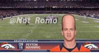ThrowbackThursday When Peyton Manning created the Seahawks Bandwagon in the Super Bowl.: BRONCOS OFFENSE  QB PEYTON  18 MANNING ThrowbackThursday When Peyton Manning created the Seahawks Bandwagon in the Super Bowl.