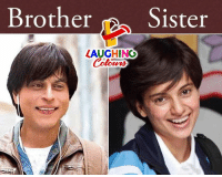 Indianpeoplefacebook, Brother, and Laughing: Brother Sister  LAUGHING  Colowrs #HappyBhaidooj ;)