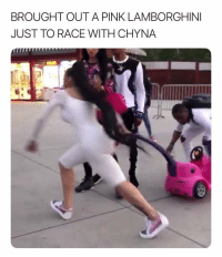Lamborghini, Pink, and Dank Memes: BROUGHT OUT A PINK LAMBORGHINI  JUST TO RACE WITH CHYNA I Will Be Damned. 🤦🏽♂️