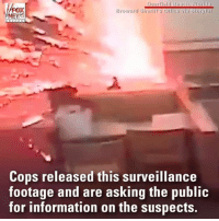 Lit, Memes, and News: Broward Sheriff's Office via Storyful  NEWS  Cops released this surveillance  footage and are asking the public  for information on the suspects. TERRIFYING: Surveillance video captured the moment a person tossed a lit firework into a Wendys in Florida.