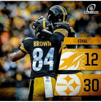Congrats to the winners there moving on good game @miamidolphins vs @steelers: BROWN  Steelers  WILD CARD  FINAL  30 Congrats to the winners there moving on good game @miamidolphins vs @steelers