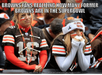Meme, Nfl, and Superbowl: BROWNS FANS REALIZING HOW MANY FORMER  BROWNS ARE IN THE SUPERBOWL  DOWNLOAD MEME GENERATOR FROM HTTP IIMEMECRUNCH.COM