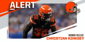 Browns release LB Christian Kirksey. https://t.co/Q3eTBaHin8: Browns release LB Christian Kirksey. https://t.co/Q3eTBaHin8