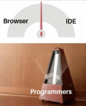 We all do it: Browser  IDE  Programmers We all do it