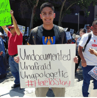 "Life, Memes, and Party: Brt  Undocumented  Unafraid  HERM @JustinoMora1, co-founder of @undocumedia: ""Today, I marched on the streets of Los Angeles because I will not allow the Trump Administration or his supporters intimidate me. Today, I made my voice heard because I will not stay silent on the inhumane and damaging policies of this administration and the ruling party. They want to push us back into the shadows - well, I say ""Not today, Satan!"" - - I first came out as an undocumented immigrant about 8 years ago and it felt liberating to chant the words ""I'm Undocumented, Unafraid, and Unapologetic!"" at my first MayDay march. Today, I saw and spoke to dozens of undocumented immigrants from all walks of life (young and old) and I felt even more inspired to continue fighting. - - We are more than just a number, a legislative bill, and a campaign promise. We are 11 million people living in this country equally as deserving as anyone else to be treated with respect and dignity. We all have the power to bring about change, but we must first believe in ourselves and free our minds. Don't forget, we have nothing to lose but our chains! HereToStay - And if you don't agree with this message and want to report me to ICE, don't worry I just tagged them for you. @icegov @realDonaldTrump. "" UndocumentedAndUnafraid immigration immigrant Undocumented migration not1more NoBanNoWall undocumented theresistance"