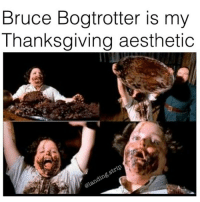 Hype, Memes, and Mlg: Bruce Bogtrotter is my  Thanksgiving aesthetic I get today is thanksgiving and all but I'm really hyped for starboy to drop Credit: @landing.strip . . . Follow @comedycockpit for more! . . . memes funny ayylmao anime kek mlg edgy savage pepe bushdid911 filthyfrank nochill hilarious johncena 4chan depressed autism weeaboo cringe jetfuelcantmeltsteelbeams depression papafranku lmfao rofl