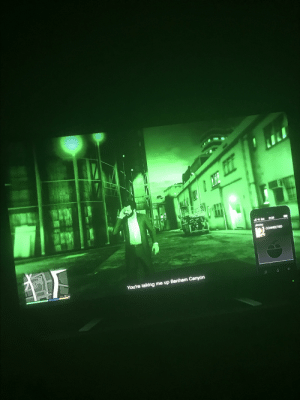 Bruh my internet cut out during the avenger setup when I had night vision goggles on and took me to story mode: Bruh my internet cut out during the avenger setup when I had night vision goggles on and took me to story mode