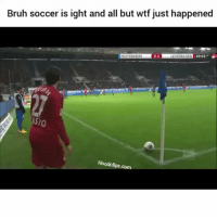 Bruh, Funny, and Soccer: Bruh soccer is ight and all but wtf just happened  0:1  HOFFENHEIM  LEVERKUSEN 6903.  Hoodclips.com Lmaoooo what?!?!