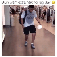 When you take your friend through your leg routine 😂😭💪 Via @diquemoreno: Bruh went extra hard for leg day When you take your friend through your leg routine 😂😭💪 Via @diquemoreno